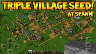 getlinkyoutube.com-TRIPLE VILLAGE AT SPAWN!! Minecraft Pocket Edition 0.14.3 Seed - 4 Villages, 4 Witch Huts!