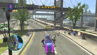 getlinkyoutube.com-LEGO Marvel Superheroes - Hawkeye Free Roams on the Cloud Rider (Xbox One)