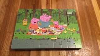 getlinkyoutube.com-Peppa Pig 9 Jigsaw Puzzles Fun Kids Picture Reveal