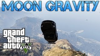 getlinkyoutube.com-Grand Theft Auto V | FUN WITH MOON GRAVITY | MAKING CARS FLY!