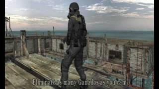 getlinkyoutube.com-Resident evil 4 - GIANT PSYHO CHAINSAW GUY