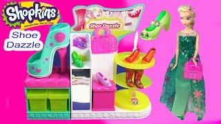 getlinkyoutube.com-Shopkins Season 3 Playset Shoe Dazzle Collection Fashion Spree Exclusive Toy Video Disney Queen Elsa