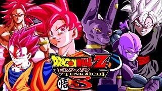 getlinkyoutube.com-SSJ God Goku, Gohan & Broly VS Beerus, Goku Black & Hit | Dragon Ball Z: Budokai Tenkaichi 3