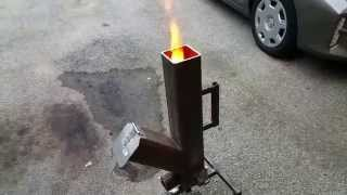 getlinkyoutube.com-GRAVITY FEED PELLET - WOOD BURNING ROCKET STOVE PART 1