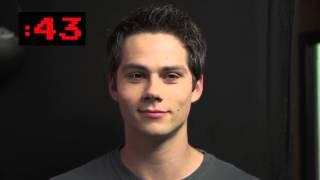 getlinkyoutube.com-Dylan O'Brien staring at the camera, trying not to laugh