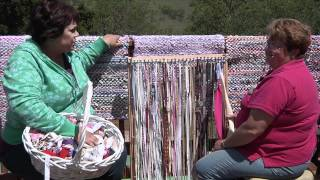 getlinkyoutube.com-Rag Rug Weaving