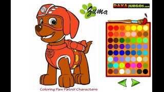 getlinkyoutube.com-La patrulla canina en español - Juegos para colorear - la patrulla cachorro