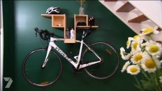 getlinkyoutube.com-Better Homes and Gardens - DIY: Bike Hanging Shelf, Ep 22 (28.06.2013)