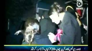 getlinkyoutube.com-Punjab Police raid on a hotel in Lahore and arrest 20 Prostitutes