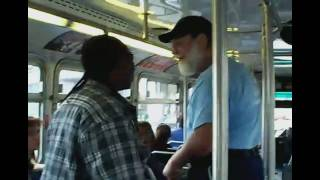 getlinkyoutube.com-Old man beats young guy AC transit bus fight w/ subtitles - Full story + interview HD