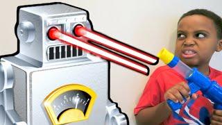 getlinkyoutube.com-Bad Baby Evil Robot ATTACKS! - Escape The House Stalker - Shiloh And Shasha - Onyx Kids