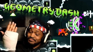 I BROKE MY HAND.. PLUS RAGE GAME.. IT'S LIT | Geometry Dash #19 (2.1 UPDATE)