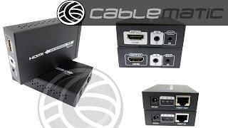 Extensor HDMI UTP 60m compatible HDBT HDbaseT IR FullHD 2K 4K 3D distribuido por CABLEMATIC ®