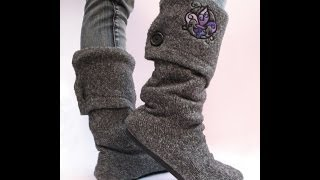 getlinkyoutube.com-من بلوفر و حذاء قديم اعملي بوط روعة
