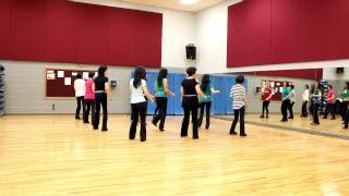 getlinkyoutube.com-Ticket To The Blues! - Line Dance (Dance & Teach in English & 中文)