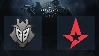 CS:GO - G2 Esports vs. Astralis [Dust2] - The Barcelona Invitational - Day 2