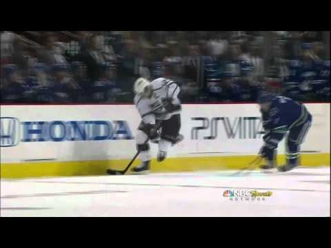 Dustin Brown 2nd SHG goal. Los Angeles Kings vs Vancouver Canucks 4/13/12 NHL Hockey