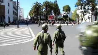 getlinkyoutube.com-Hespress.com: Chômeurs en colère au centre de Rabat