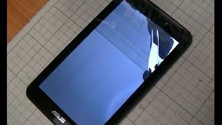 getlinkyoutube.com-画面が壊れたタブレットを修理、タッチパネルをシールはがし液で取り外す(ASUS memopad7 ME170 Remove the touch panel)