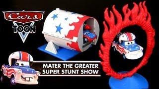 getlinkyoutube.com-Cars Toon Mater the Greater Super Stunt Show Playset Mattel Amazing Stunts Disney Pixar Toys review