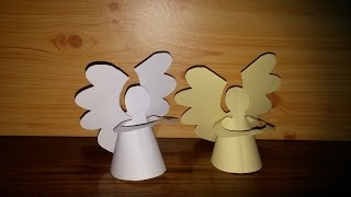 getlinkyoutube.com-Anjo de Natal de papel facil - DIY- Paper angel