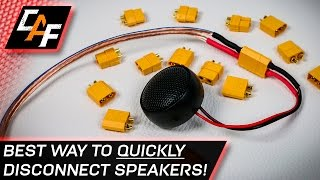 getlinkyoutube.com-Quick Disconnect Speaker Wires! BEST Connector - CarAudioFabrication