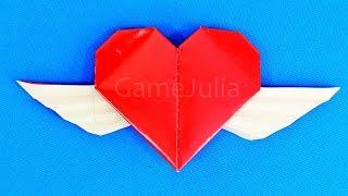 getlinkyoutube.com-Оригами сердце с крыльями