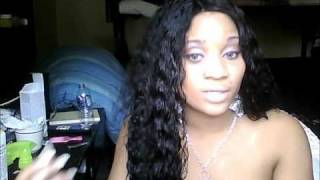 """getlinkyoutube.com-100% Indian Remy Human Hair Full Lace Wig """" Deep Wave"""" From Ebay"""