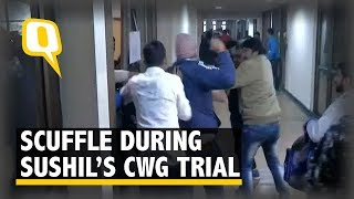 Fight Breaks Down During Wrestler Sushil Kumar's CWG Trial  The Quint