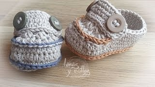 getlinkyoutube.com-Tutorial Mocasines Bebé Crochet o Ganchillo en Español