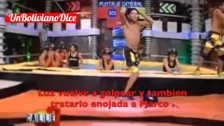 getlinkyoutube.com-Pelea en vivo: Marco y Luz Calle 7 Bolivia