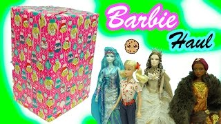 getlinkyoutube.com-Giant Box of Fantasy Gold Label Collector Barbie Dolls Haul Video - Cookieswirlc