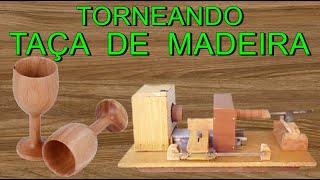 getlinkyoutube.com-TORNEANDO - COMO FAZER TAÇA DE MADEIRA COM TORNO CASEIRO - LATHE