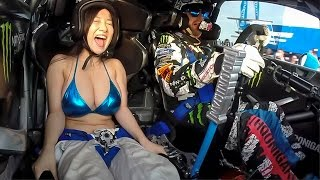 getlinkyoutube.com-BOOBKHANA!  Part 1:  Bikini Babes Ride with Ken Block in Nagoya, Japan.
