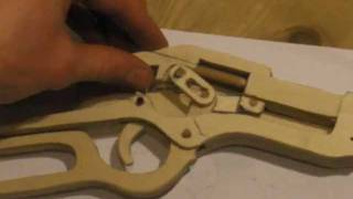 getlinkyoutube.com-Winchester lever action rifle wooden gun