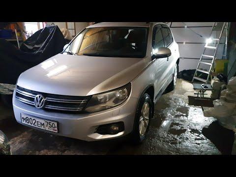 Замена задних пружин и установка проставок   VW Tiguan 2.0