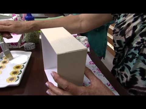 05/09/2013 Mulher.com  Ione Berne - Caixa de Cartonagem com tecido (Bloco 1/2)