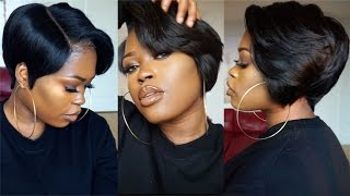 getlinkyoutube.com-DIY| 27 Piece & A Lace Frontal Tapered Bob Wig