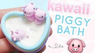 getlinkyoutube.com-Piggy in a Milk Bath Figurine | DIY Polymer Clay Tutorial