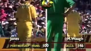 getlinkyoutube.com-Mark Waugh 107 & Dean Jones 79 Australia v South Africa 1993-94