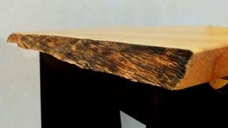 getlinkyoutube.com-Finishing a Natural Edge Table Top - A woodworkweb.com woodworking video