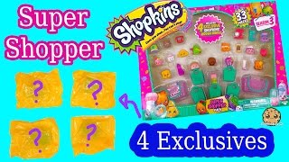 getlinkyoutube.com-Shopkins Season 3 SUPER SHOPPER 33 Pieces Set with 4 EXCLUSIVE BLIND BAGS - Cookieswirlc Video