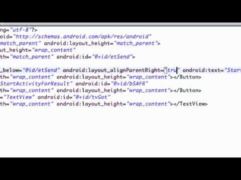 Android Application Development Tutorial - 44 - XML Relative Layout