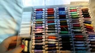 getlinkyoutube.com-Cross stitch 2-Floss storage
