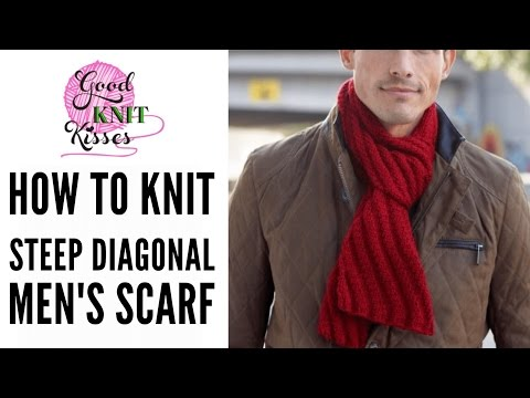 How to Knit Steep Diagonal Scarf featuring Bernat Softee Chunky