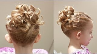 getlinkyoutube.com-Cute Chain Updo // Princess Hairstyle // Cute Girls Hairstyles
