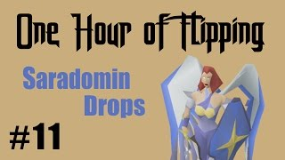 [OSRS] INSANE PROFITS FLIPPING SARADOMIN DROPS ONLY!  [ Episode #11 ] A One Hour Flipping Challenge