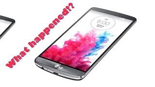 LG g3 responsive but blank lit up screen