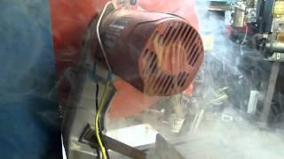 getlinkyoutube.com-Industrial Chop Saw - Epic Motor Burnout (Damaged Rotor)