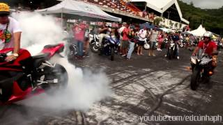 getlinkyoutube.com-Motozona 2015 Part 2 - Girls & Superbikes Burnouts!!!